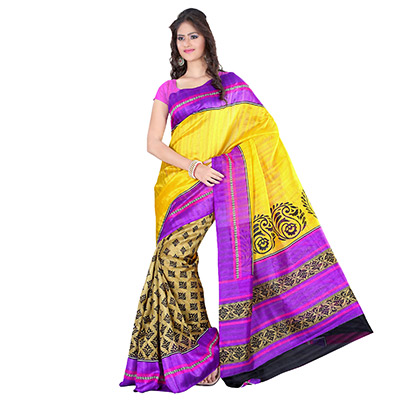 Multi Colored Art Silk Saree