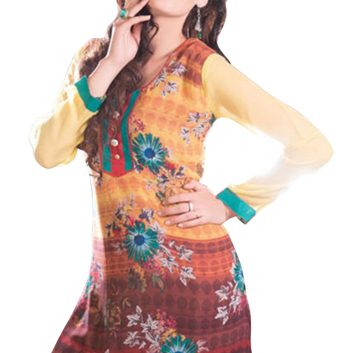 Multi Color Printed Casual Wear Kurti