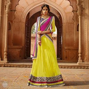 Lime Yellow Lehenga
