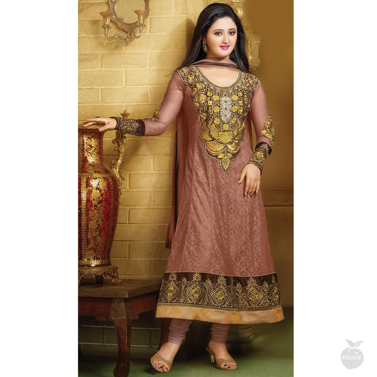 Light Chestnut Anarkali