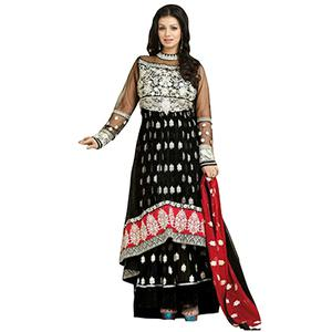 Dual Layered Black Anarkali