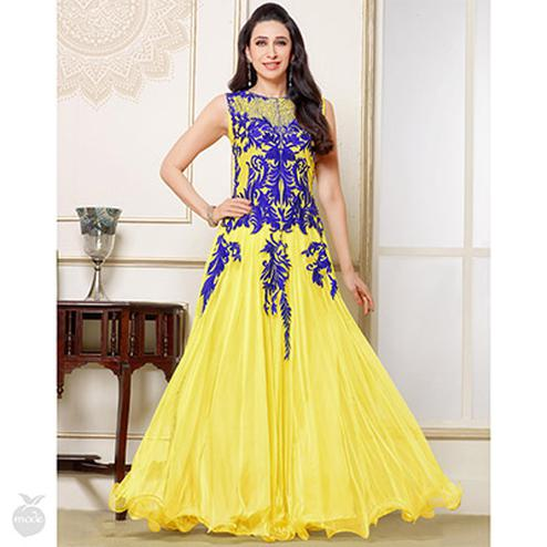 Lime Yellow Anarkali