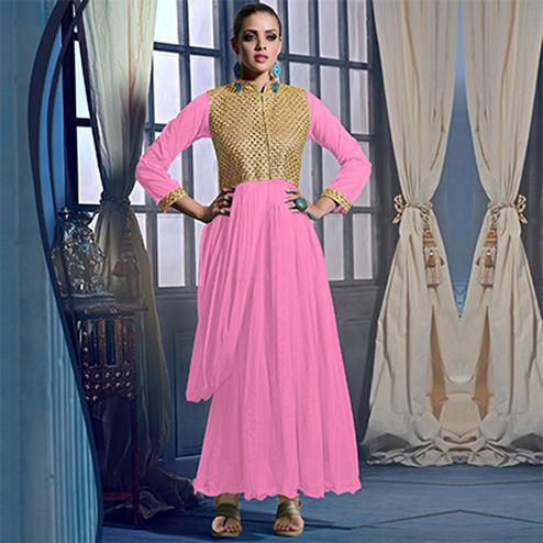 Pink Gown Style Suit