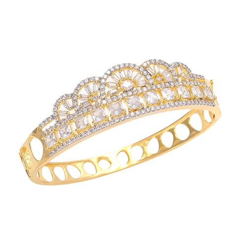 Exotic Golden Colored American Diamond Bracelet