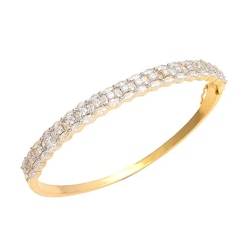 Gleaming Golden Colored American Diamond Bracelet