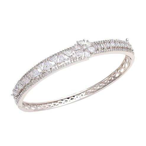 Demanding White Gold Polish American Diamond Bracelet