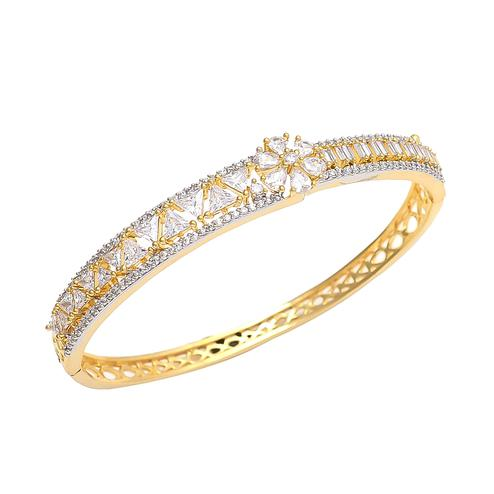 Refreshing Golden Colored American Diamond Bracelet