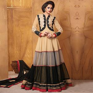 Multicolored Embroidered Work Anarkali
