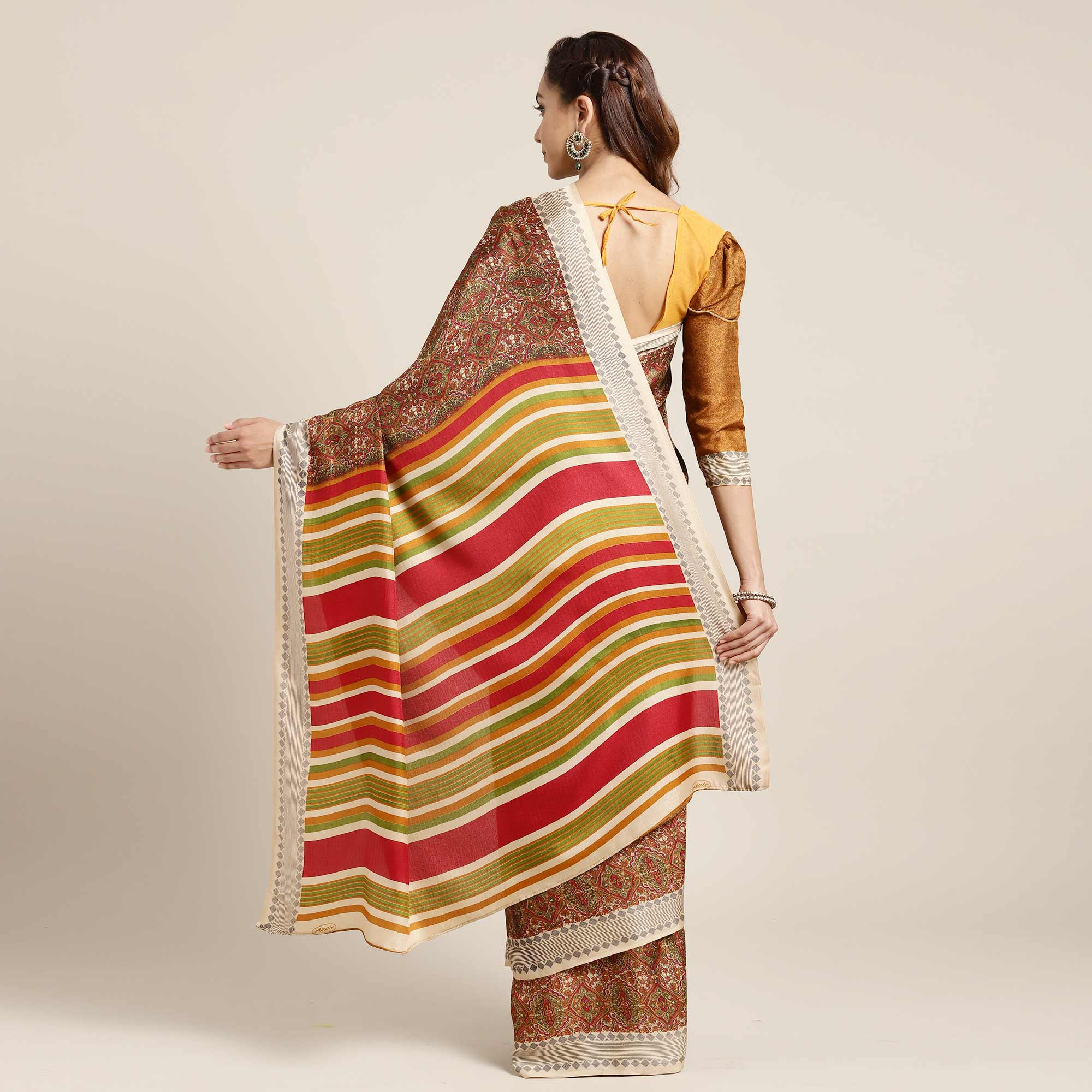 Attractive Red Colored Casual Printed Pashmina Saree
