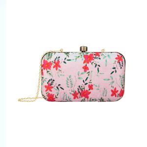 Beautiful Pink Colored Floral Printed Fancy Clutch
