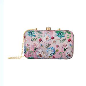 Imposing Multi Colored Floral Printed Fancy Clutch