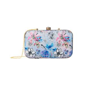 Breathtaking Violet-Pink Colored Floral Printed Fancy Clutch
