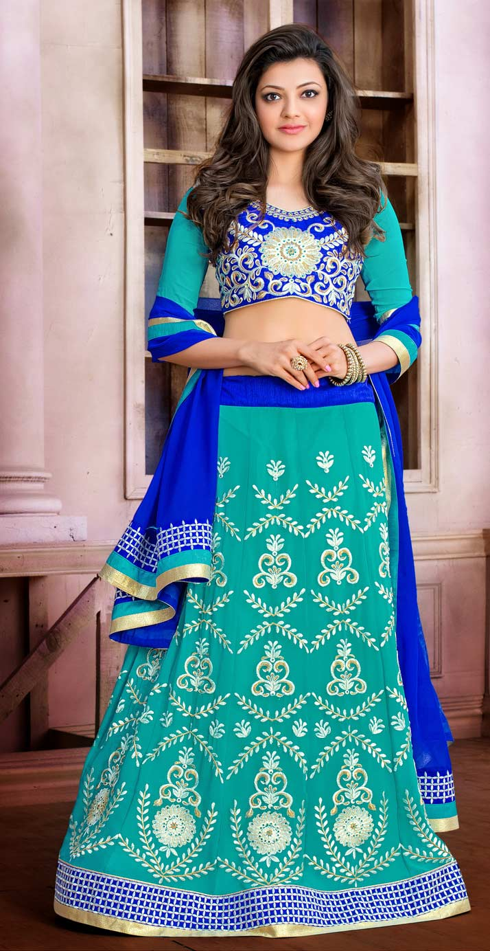 Sea Green Anarkali / Lehenga