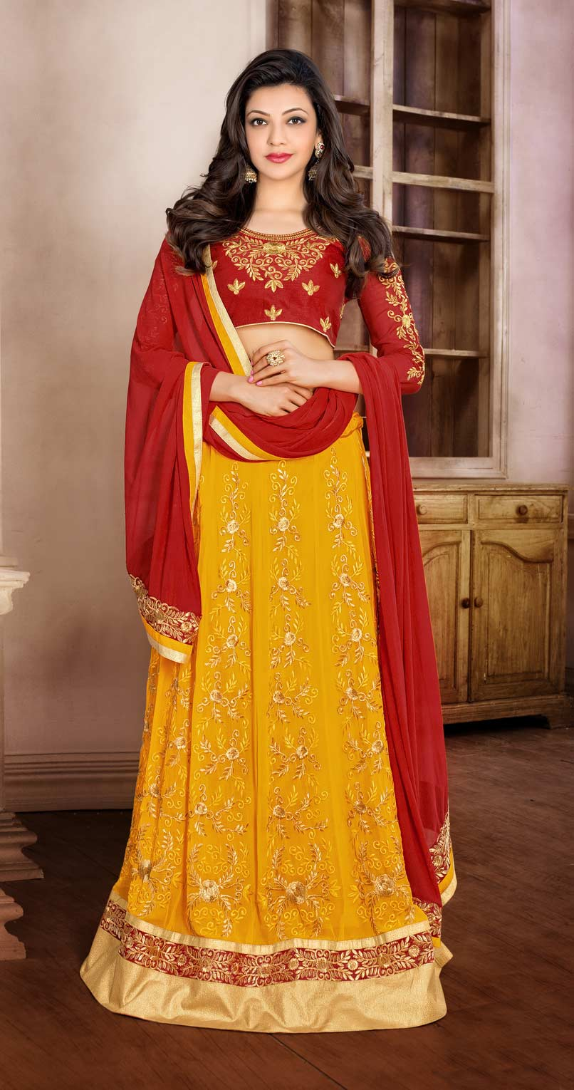 Mustard Yellow Anarkali / Lehenga
