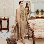 Energetic Green Colored Partywear Embroidered Net Pant Style Kashmiri Suit