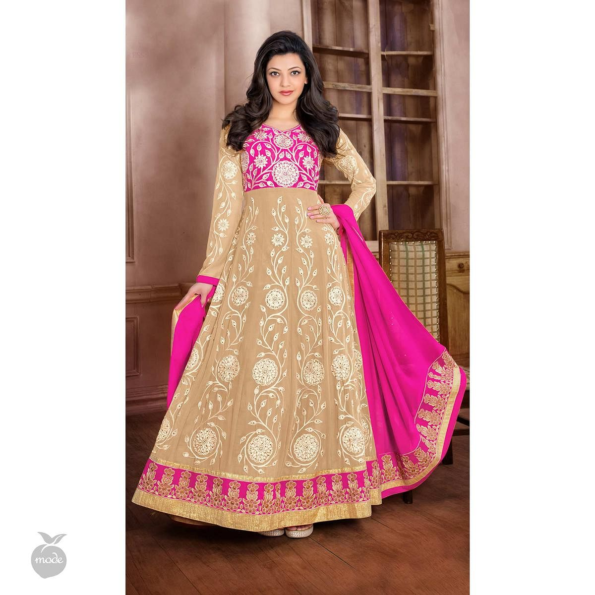 Light Brown Anarkali / Lehenga