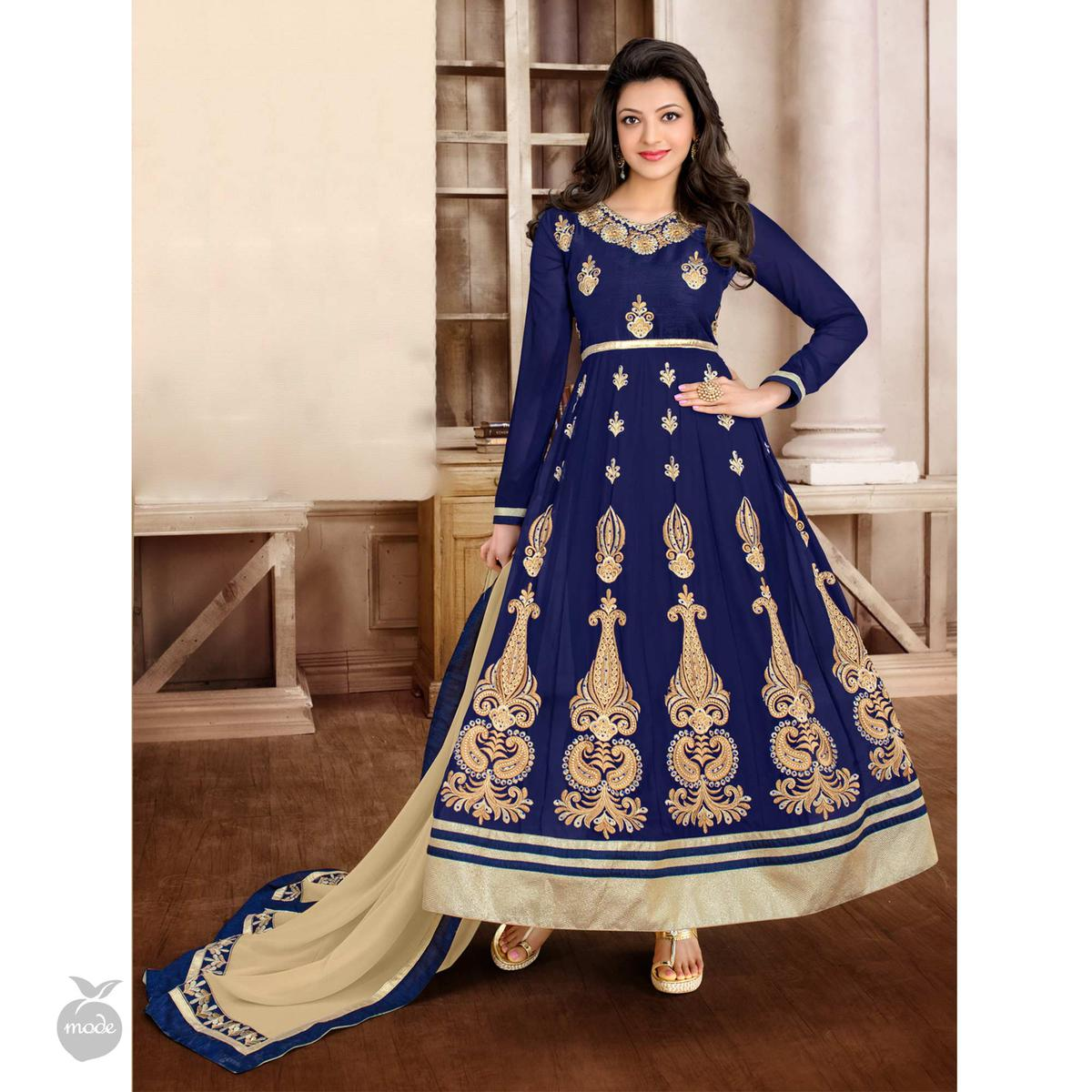 Navy Blue Anarkali / Lehenga