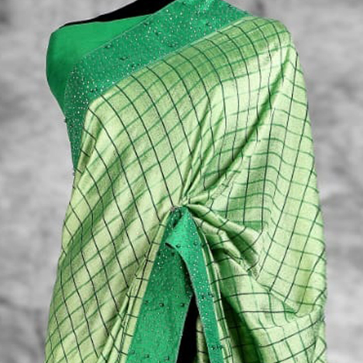 Graceful Green Colored Partywear Printed Art Silk Saree