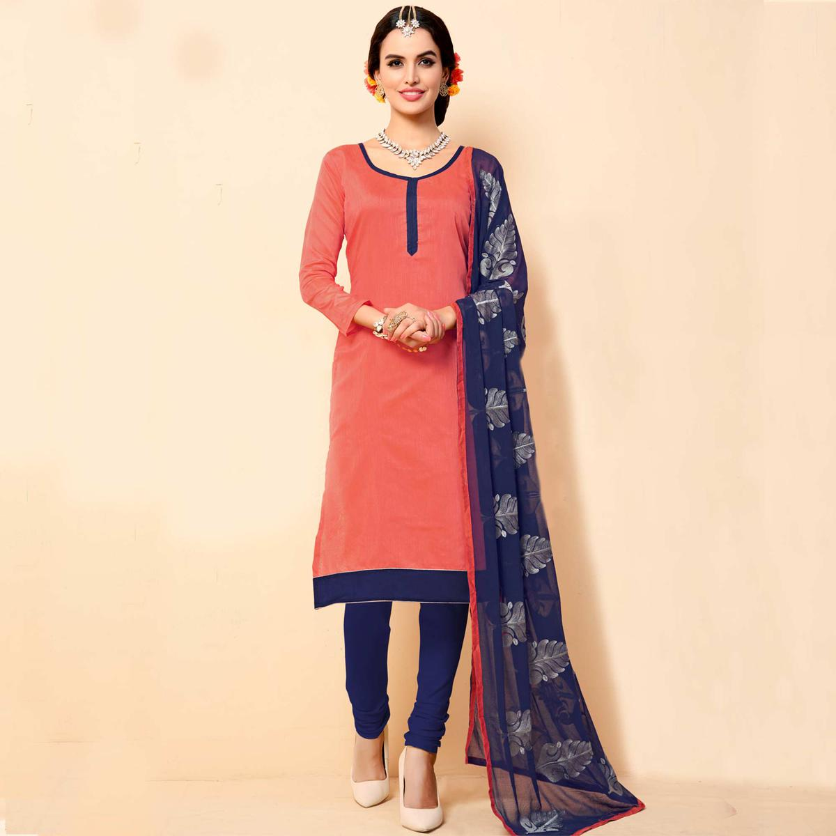 Crimson Red Chanderi Suit