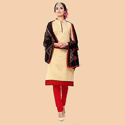 Light Tan Chanderi Suit