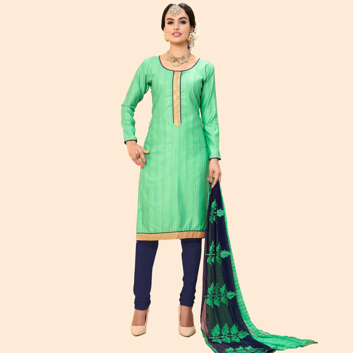 Light Green Chanderi Suit