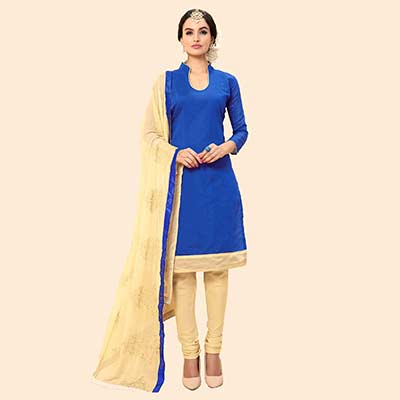 Royal Blue Chanderi Suit