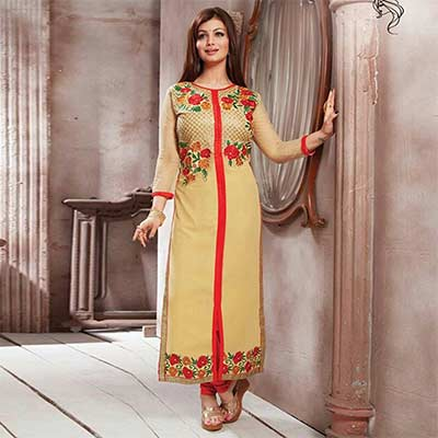 Tan Georgette Ayesha Takia Suit