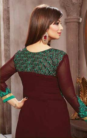 Chocolate Brown Georgette Ayesha Takia Suit