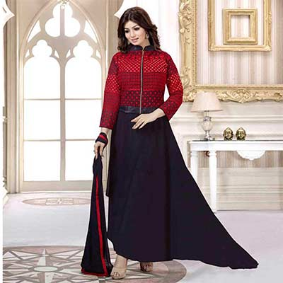 Red - Black Georgette Ayesha Takia Anarkali