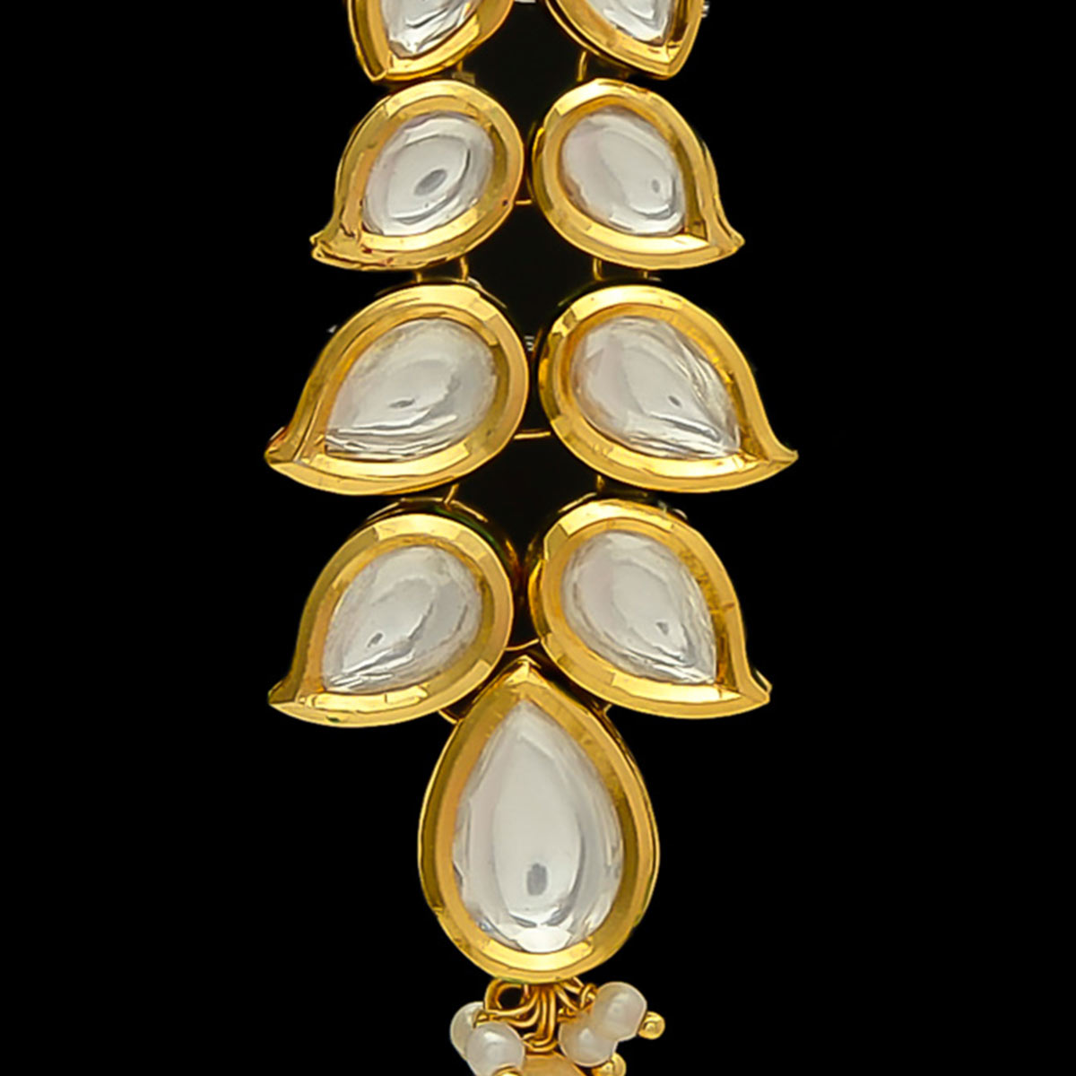 Breathtaking Designer Long Kundan Stone Earrings