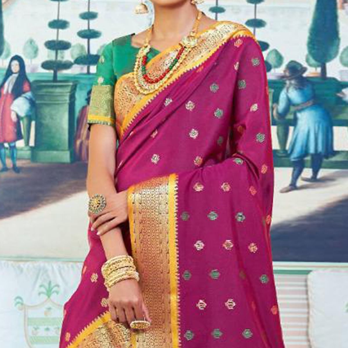 Ravishing Light Purple Colored Festive Wear Woven Paithani Silk Saree