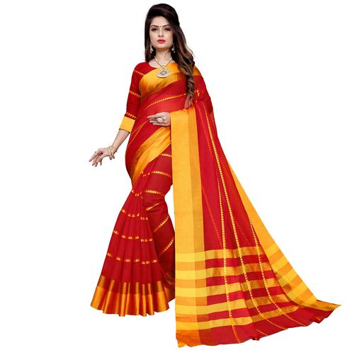 Fantastic Red Colored Festive Wear Manipuri Silk Saree