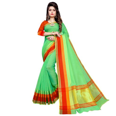 Blissful Green Colored Festive Wear Manipuri Silk Saree