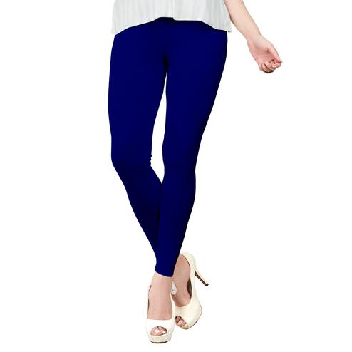 Staring Royal Blue Colored Casual Wear Ankle Length Leggings