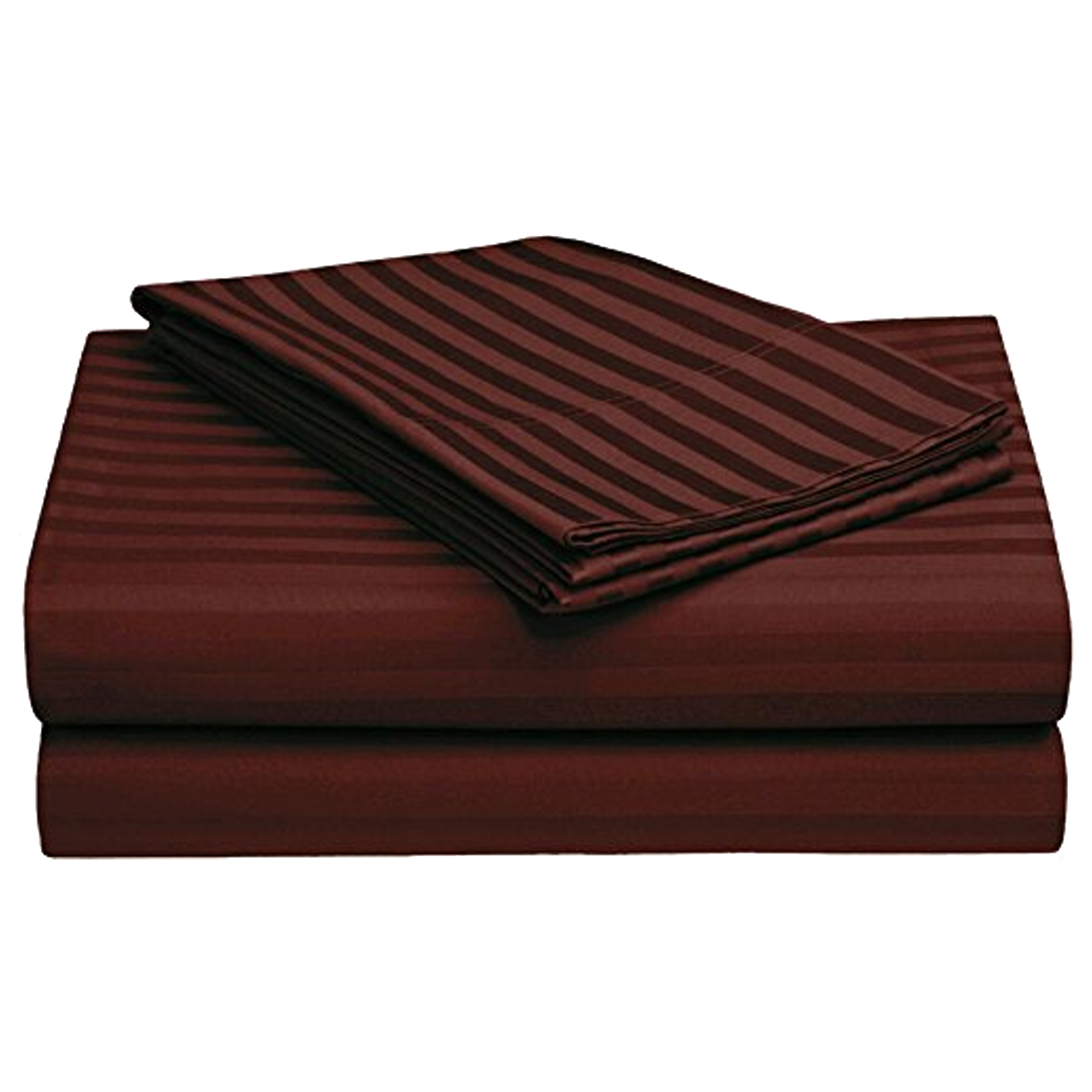 Exceptional Dark Brown Colored Self Design Cotton Double Bedsheet With Pillow Cover