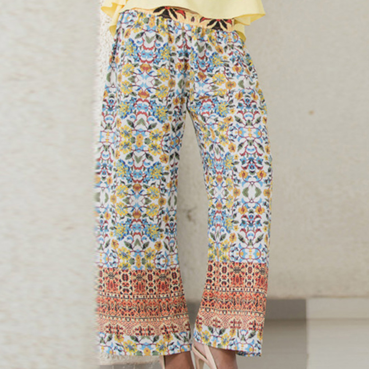 Stylish Multicolor Printed Palazzo