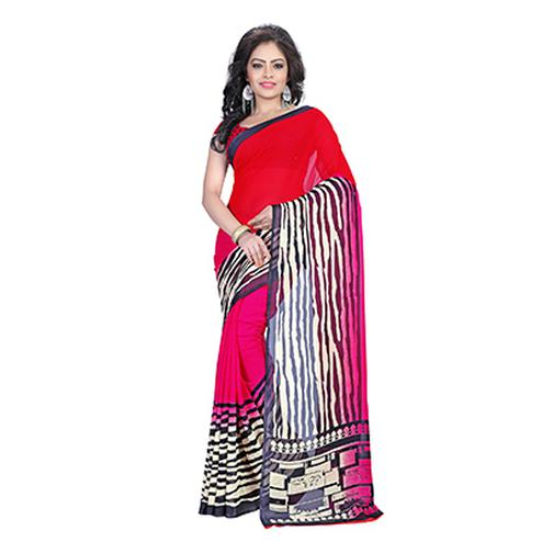Multicolor Georgette Designer Saree