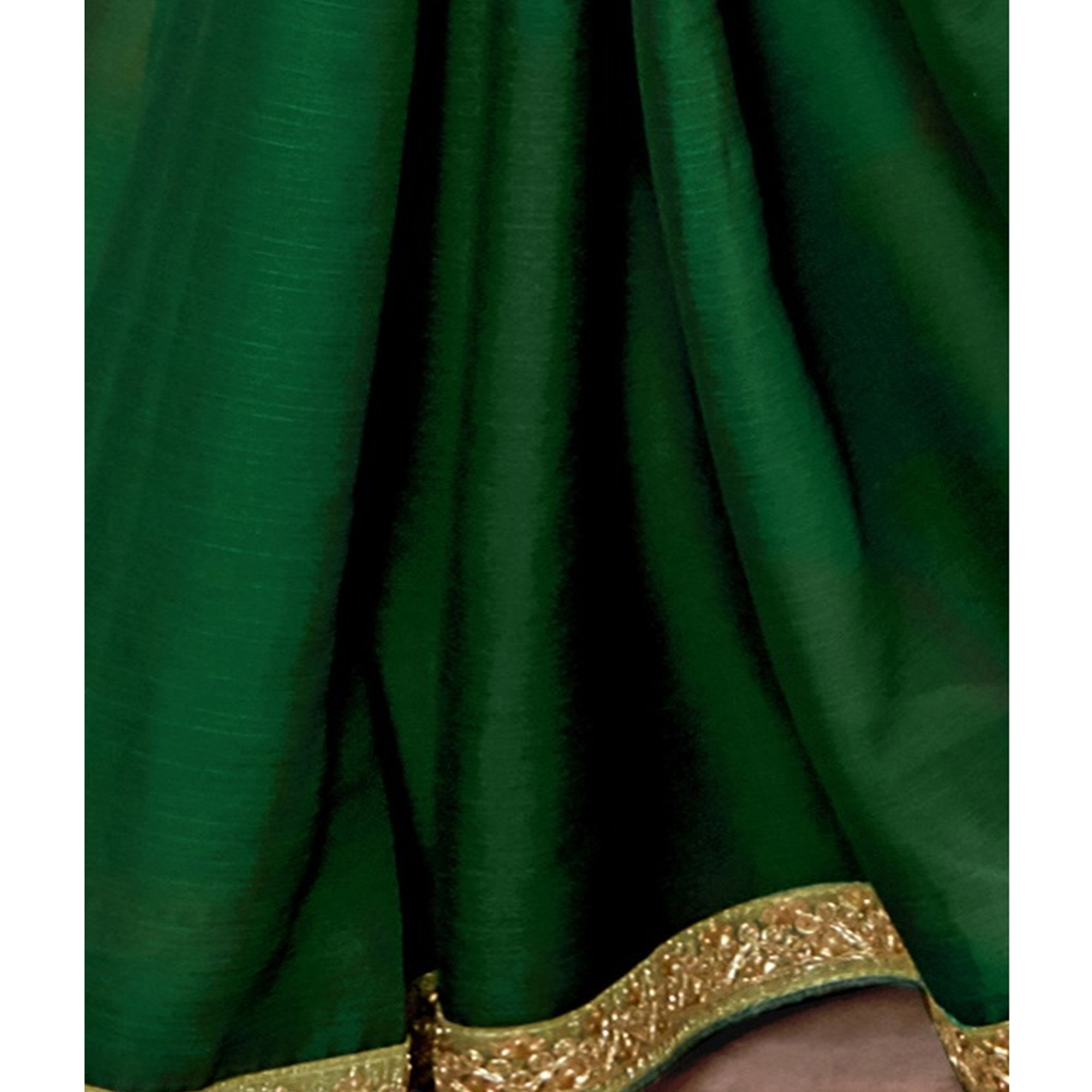 Pleasance Green Colored Partywear Embroidered Chiffon Saree