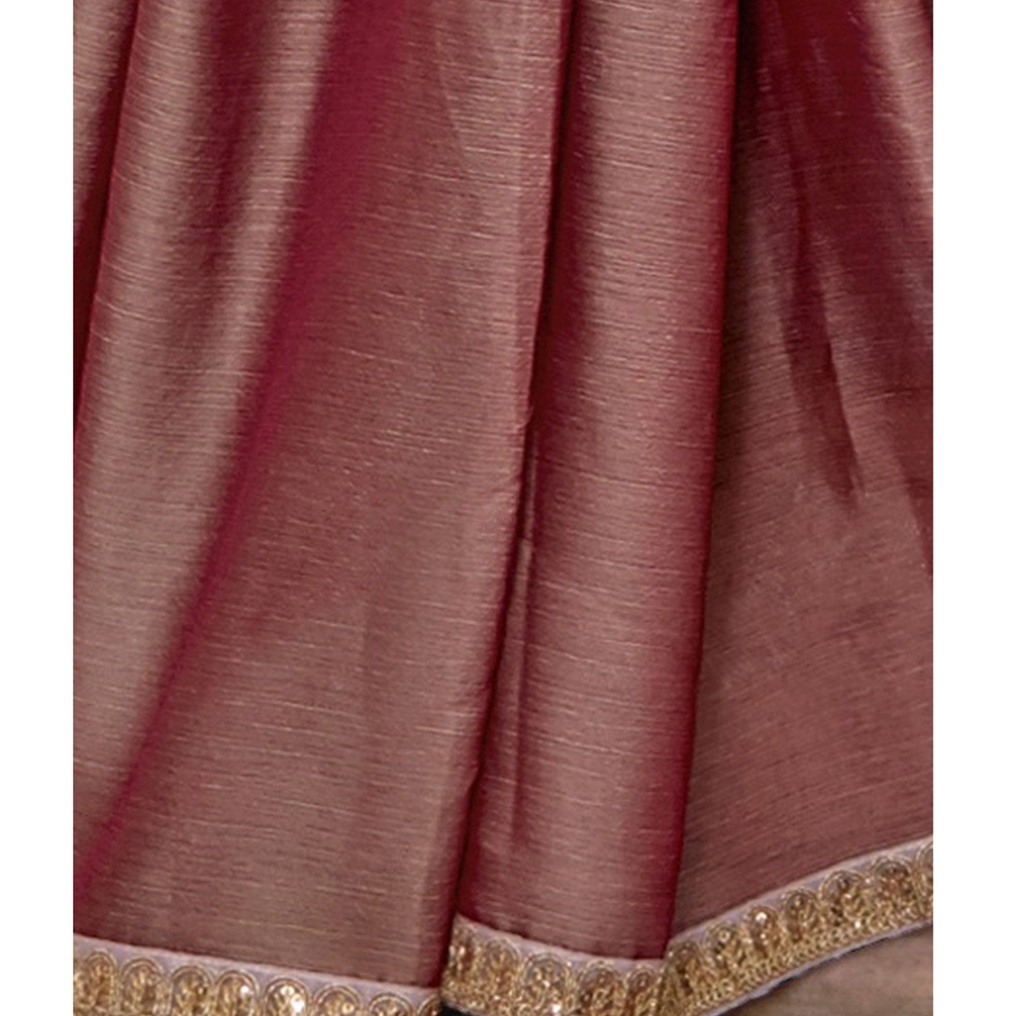 Staring Mauve Colored Partywear Embroidered Chiffon Saree