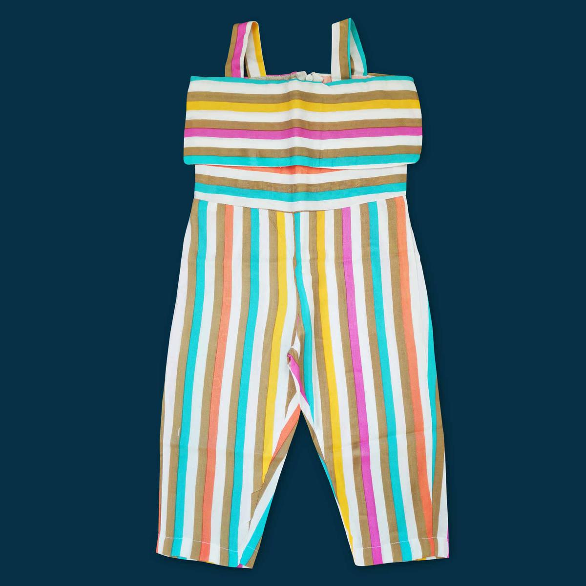 Exclusive Multi Colored Partywear Printed Cotton Jumpsuit