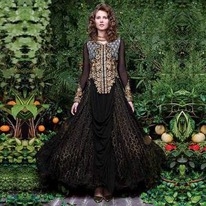 Black Party Wear Evening Gown