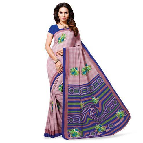 Eye-catching Mauve Colored Casual Wear Printed Georgette Saree