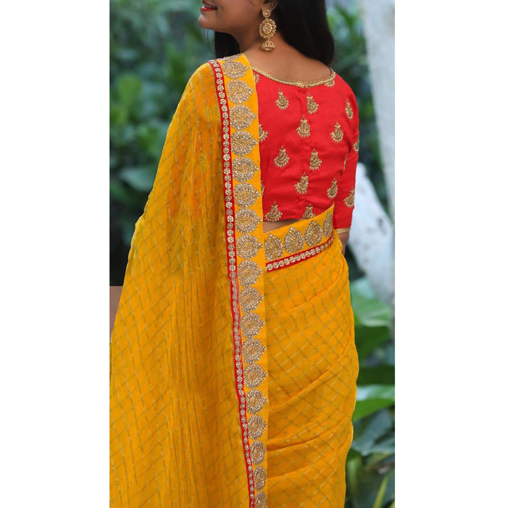Refreshing Yellow Colored Partywear Embroidered Modal Cotton Saree