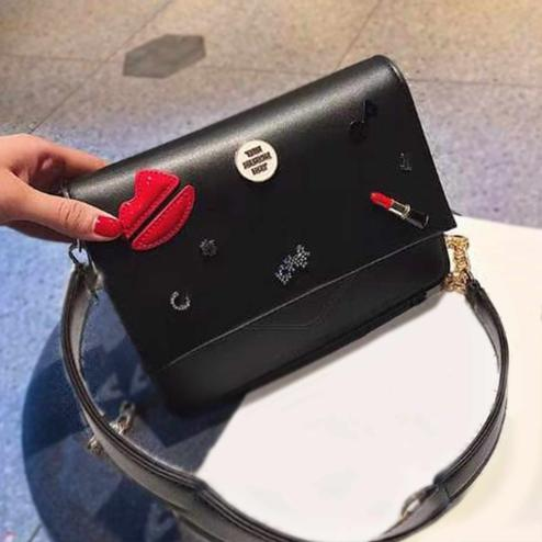 Desiring Black Colored Partywear PU Leather Solid Sling Bag