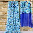Jazzy Blue Colored Casual Wear Printed Georgette Saree
