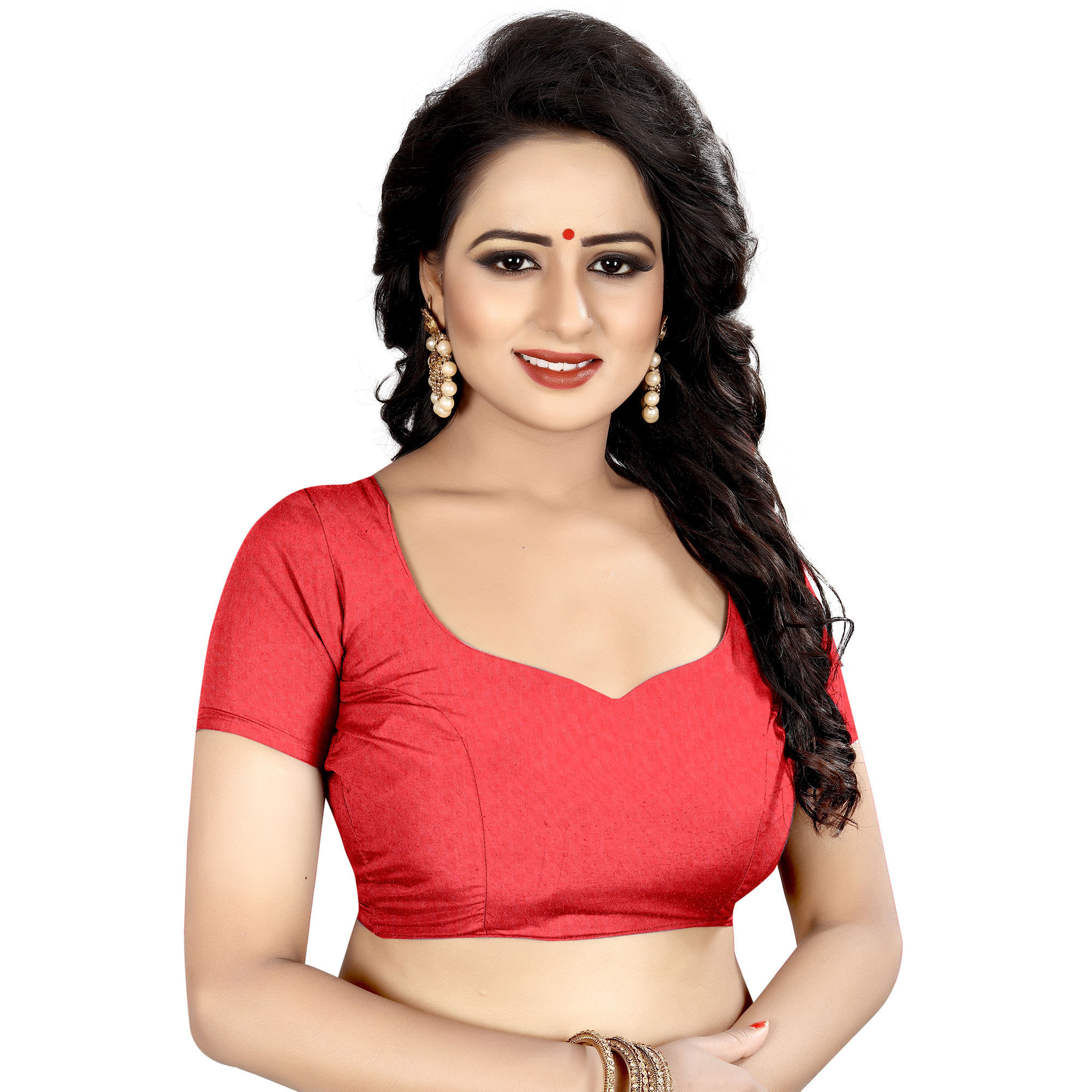 Lovely Red-Multi Colored Casual Wear Printed Georgette Saree