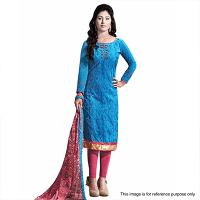 Blue Casual Wear Straight Suit