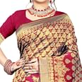Fantastic Red Colored Festive Wear Woven Silk Saree