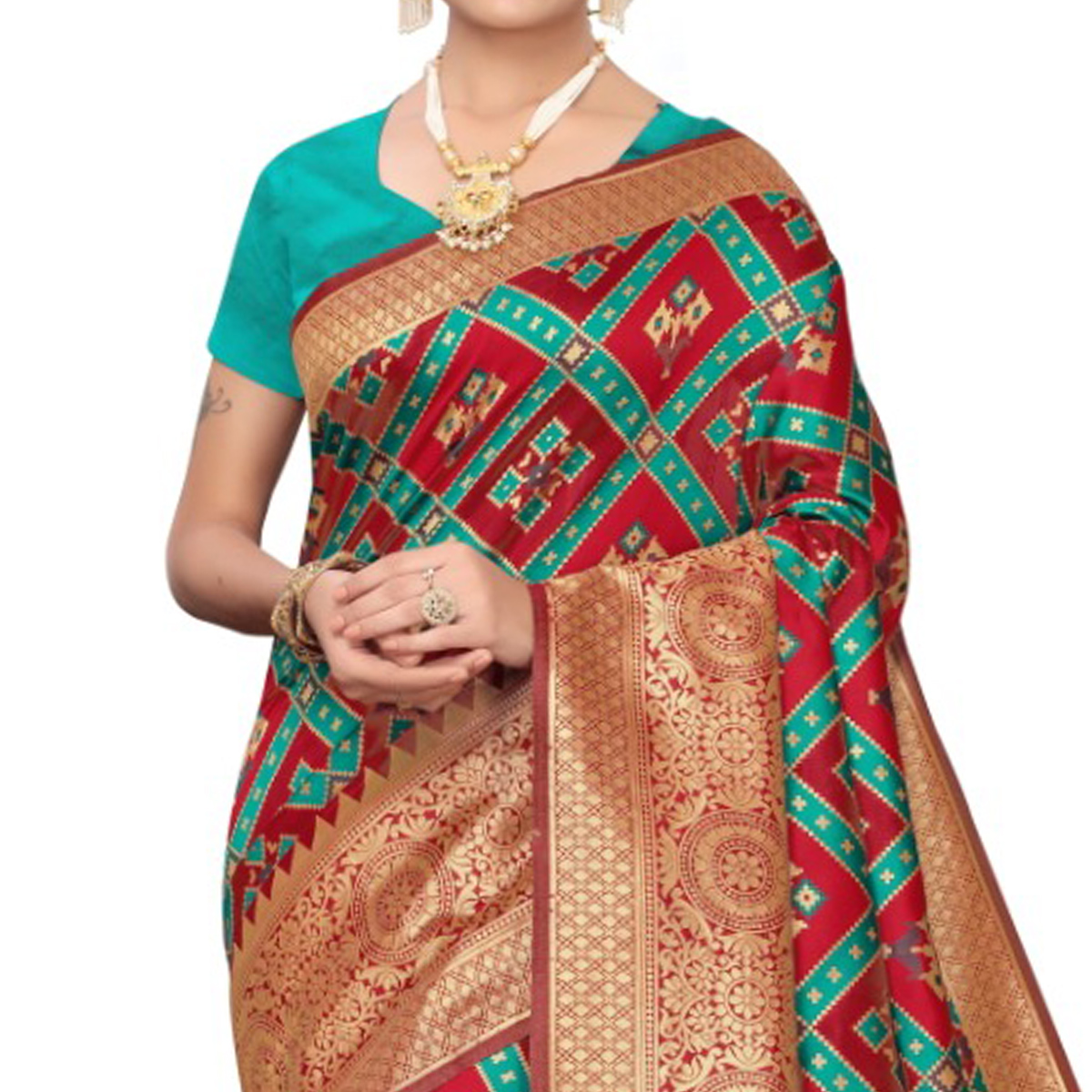 Capricious Wine Colored Festive Wear Woven Banarasi Silk Saree