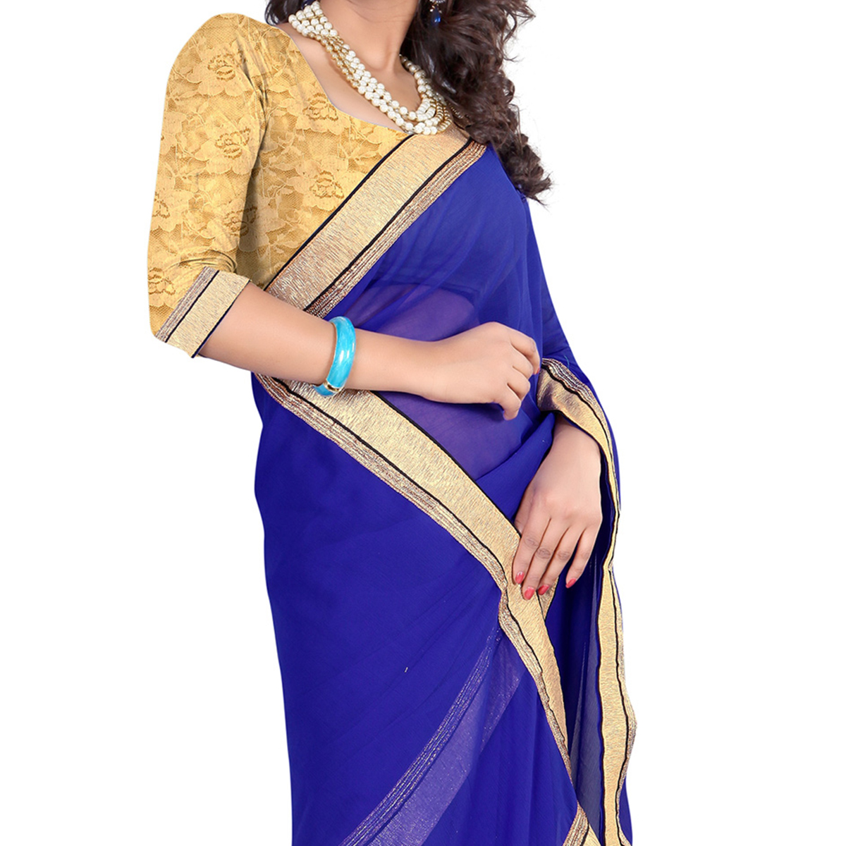 Blue Casual Wear Saree